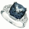 6.77ctw Mystic Iolite Blue Ring in Sterling Silver