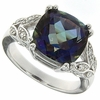 6.77ctw Mystic Blueish Ring in Sterling Silver