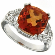 6.77ctw Mystic Sunstone Ring in Sterling Silver