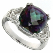6.77ctw Mystic Ring in Sterling Silver