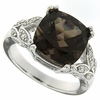6.77ctw Smokey Quartz Ring in Sterling Silver