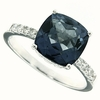 3.84ctw Mystic Iolite Ring in Sterling Silver