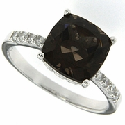 3.84ctw Smokey Quartz Ring in Sterling Silver