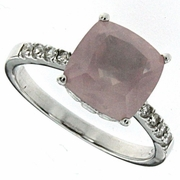 3.84ctw Rose Quartz Ring in Sterling Silver