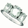 3.97ctw Green Amethyst Ring in Sterling Silver