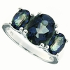 3.97ctw Mystic Blueish Ring in Sterling Silver