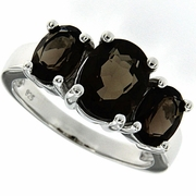 3.97ctw Smokey Quartz  Ring in Sterling Silver