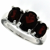 3.97ctw Garnet Ring in Sterling Silver