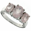 3.97ctw Rose Quartz  Ring in Sterling Silver