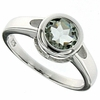 1.45ctw Green Amethyst Ring in Sterling Silver