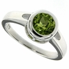 1.45ctw Peridot Ring in Sterling Silver