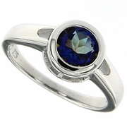 1.45ctw Mystic Iolite Blue Ring in Sterling Silver