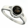 1.45ctw Smokey Quartz Ring in Sterling Silver