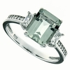 3.08ctw Green Amethyst Ring in Sterling Silver