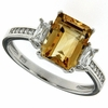 3.08ctw Citrine Ring in Sterling Silver