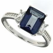 3.08ctw Mystic Blueish Ring in Sterling Silver