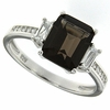 3.08ctw Smokey Quartz Ring in Sterling Silver
