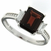 3.08ctw Garnet Ring in Sterling Silver