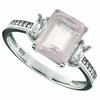 3.08ctw Rose Quartz Ring in Sterling Silver