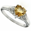 1.40ctw Citrine Ring in Sterling Silver
