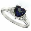 1.40ctw Mystic Blueish Ring in Sterling Silver