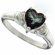 1.40ctw Mystic Ring in Sterling Silver