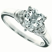 1.40ctw White Topaz Ring in Sterling Silver