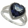 4.73ctw Mystic Iolite Blue Ring in Sterling Silver