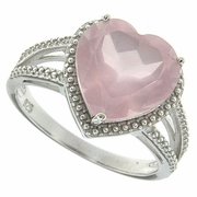 4.73ctw Rose Quartz Ring in Sterling Silver