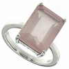 8.92ctw Rose Quartz Ring in Sterling Silver