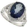 6.91ctw Mystic Blueish Ring in Sterling Silver