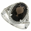 6.91ctw Smokey Quartz Ring in Sterling Silver