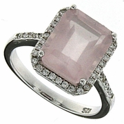 5.54ctw Rose Quartz Ring in Sterling Silver