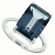 8.92ctw Mystic Iolite Blue Ring in Sterling Silver