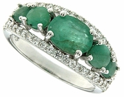 1.99ctw Emerald Ring in Sterling Silver