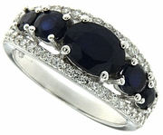 1.99ctw Diffusion Sapphire Ring in Sterling Silver