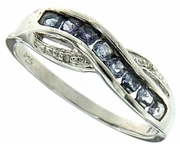 0.30ctw Tanzanite and Diamond Ring in Sterling Silver