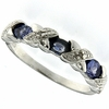 0.42ctw Tanzanite and Diamond Ring in Sterling Silver