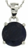 "3.50ctw Sapphire Stud Pendant in Sterling Silver with 18"" Chain"