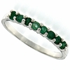 0.34ctw Emerald Ring in Sterling Silver