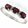 1.06ctw Ruby and Diamond Ring in Sterling Silver