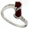 1.21ctw Ruby and Diamond Ring in Sterling Silver