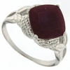 4.51ctw Ruby and Diamond Ring in Sterling Silver