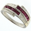 0.89ctw Ruby and Diamond Ring in Sterling Silver