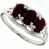 2.06ctw Ruby Ring in Sterling Silver
