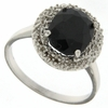 2.63ctw Sapphire and Diamond Ring in Sterling Silver