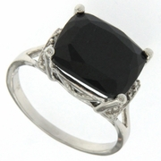 6.74ctw Sapphire and Diamond Ring in Sterling Silver