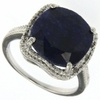 8.03ctw Sapphire and Diamond Ring in Sterling Silver