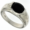 3.24ctw Sapphire and Diamond Ring in Sterling Silver