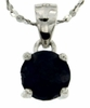 "1.40ctw Sapphire Stud Pendant in Sterling Silver with 18"" Chain"